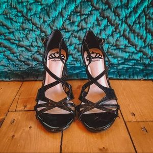 "Black Classy Strappy 3"" Heels"